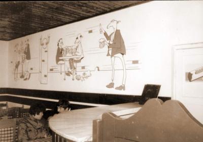 Freskó – Galbeck söröző / Saloon mural